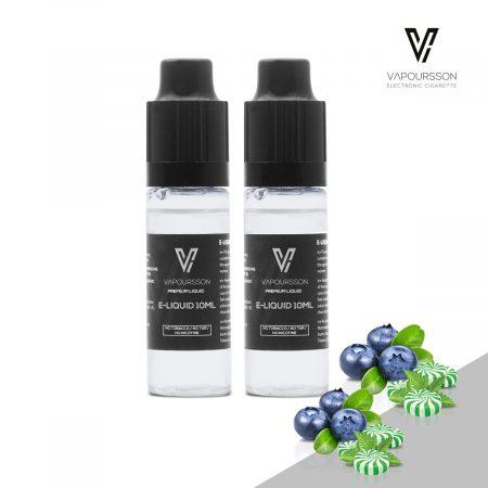 2 Pack E Liquid Blueberry Menthol